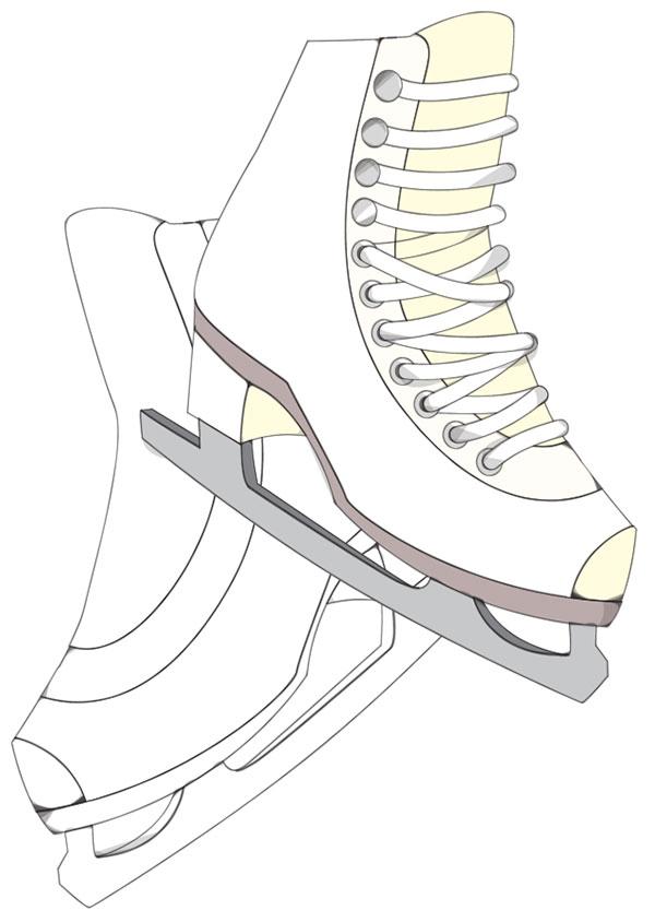 How To Draw Ice Skates : skates, Create, Skates, Softly, Drawn, Vector, Style, Illustrator