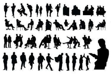 Best of Free Vector Business People Silhouette Packs