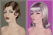 art of vectoring hair
