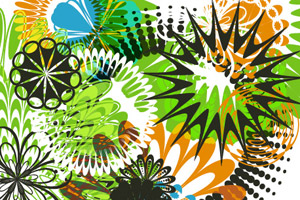 30 Illustrator Pattern Brushes for Making Flowers and Circular Designs