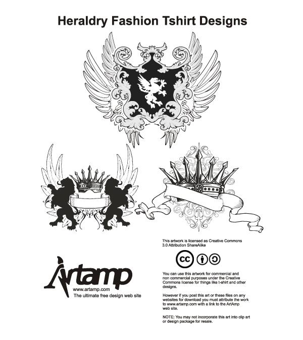 Heraldry Fashion Tshirt Designs