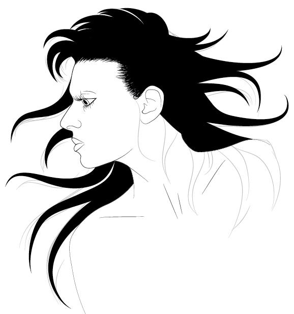 How to Illustrate Dynamic Hair Using Adobe Illustrator's