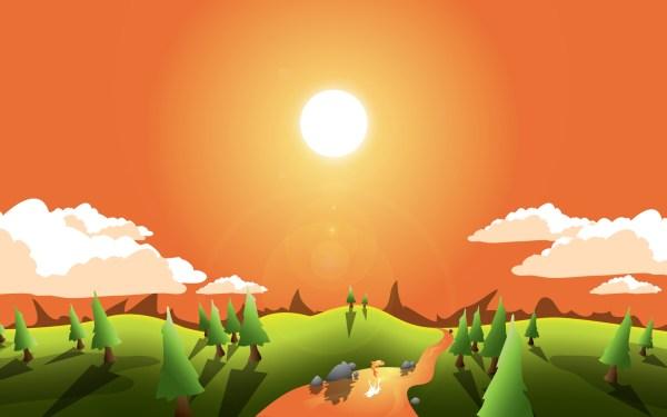 Adobe Illustrator Landscape