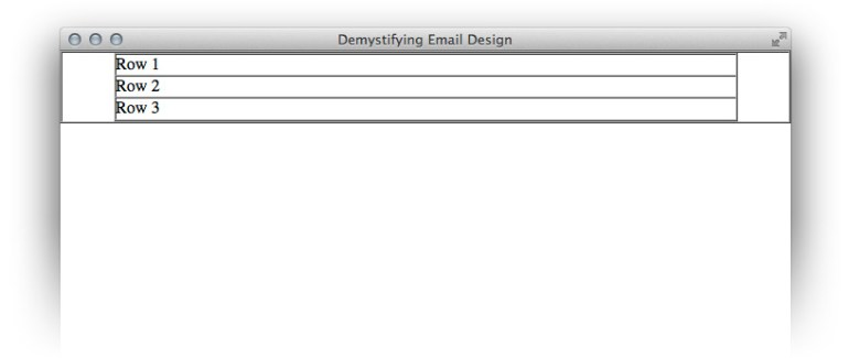 Extra rows in our HTML email layout
