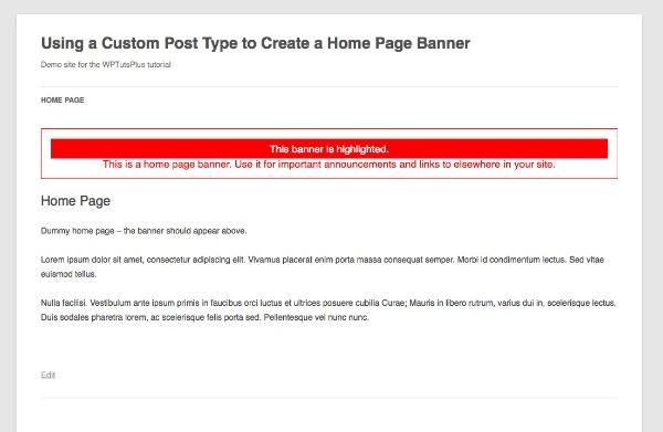 banner post type