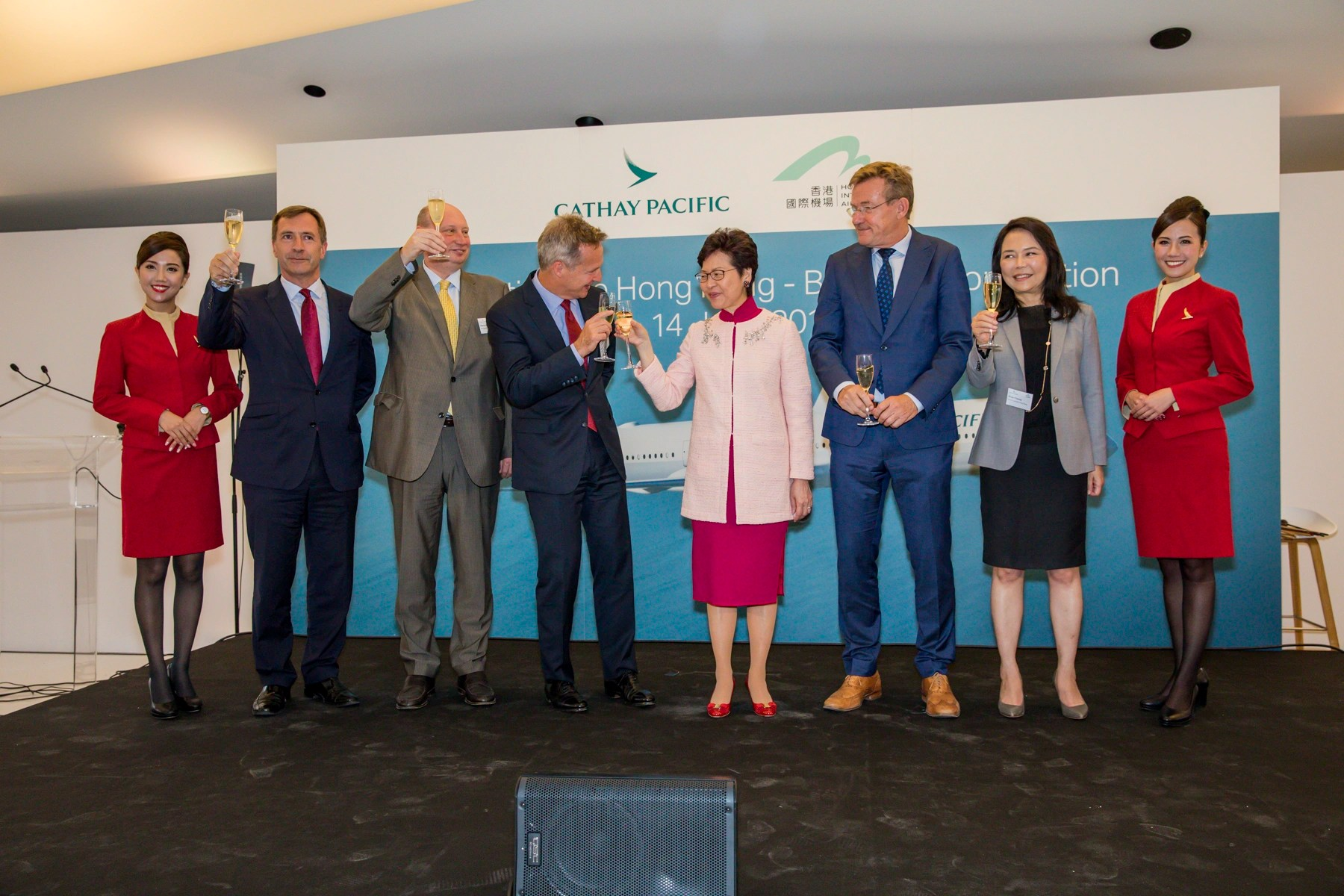 Cathay Pacific celebrates Hong Kong – Brussels connection - Cathay Pacific