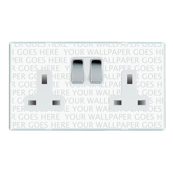 Hamilton Perception Clear 2 Gang 13A Switched Socket