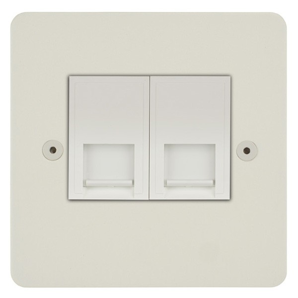 Focus SB Horizon HPW24.2W 2 gang master telephone socket