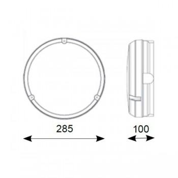 Ansell Delta LED 14W White Bulkhead with Microwave Sensor