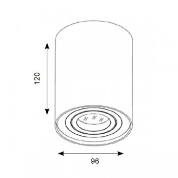 Ansell Novara Surface 50W Adjustable GU10 White Downlight