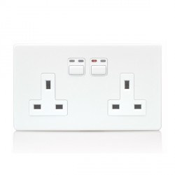LightwaveRF White 2 Gang 1-way Dimmer 250W at UK