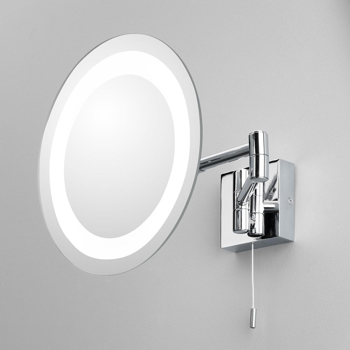 Astro Genova Polished Chrome Bathroom Mirror Light at UK