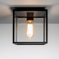 Astro Box Black Outdoor Ceiling Light at UK Electrical
