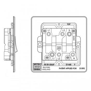 BG Nexus Flatplate Screwless Fan Isolator (FPB15) at UKES