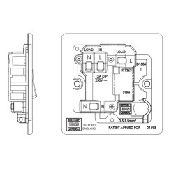 Rcd Spur Wiring Diagram Fetal Pig With Labels Bg Nexus Flatplate Screwless Polished Chrome 13a 1 Gang Switched Fused Connection Unit Neon
