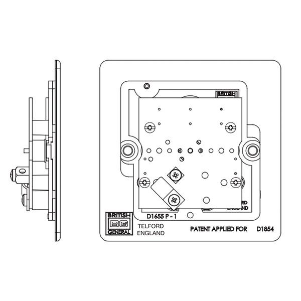 BG Nexus Flatplate Screwless Brushed Steel 1 Gang Non