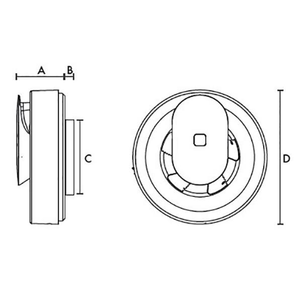 Vent-Axia Lo-Carbon Svara Kitchen and Bathroom Fan at UK
