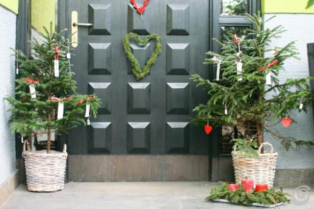 Visualizza altre idee su decorazioni, finestre natalizie, natale. Le Decorazioni Per La Porta Di Natale Ecco Le Piu Belle Foto Ultime Notizie Flash