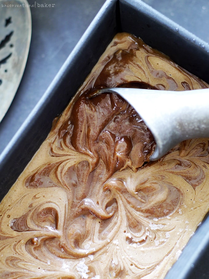 Caramel Swirl Ice Cream (by Audrey from UnconventionalBaker.com)