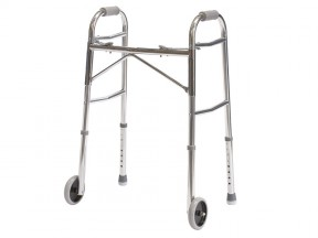 Walking Frame Folding, with Wheels & Gliders, Adult (Max
