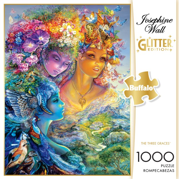 The Three Graces (Glitter Edition) Birds Glitter/Shimmer/Foil