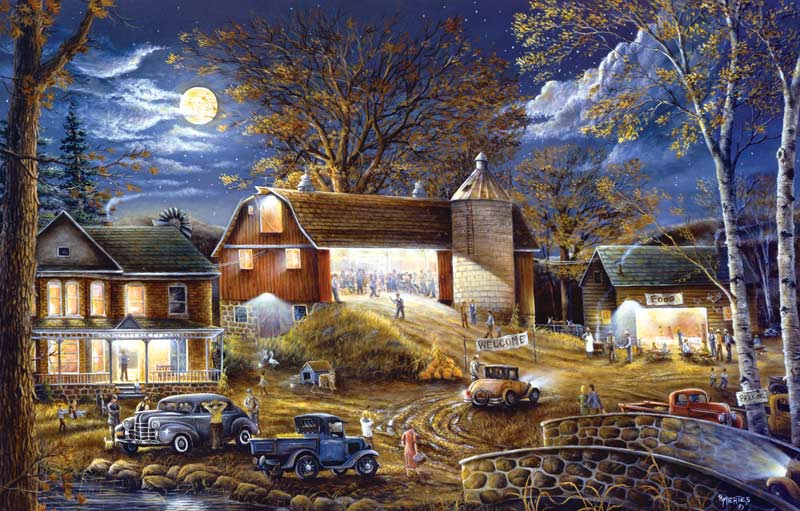 Fall Coastal Desktop Wallpaper Barn Dance Tonight Jigsaw Puzzle Puzzlewarehouse Com
