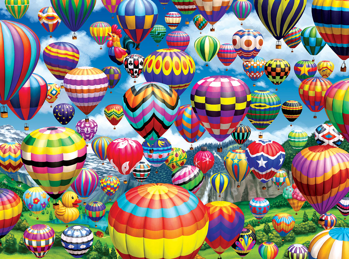 colorful balloons in the