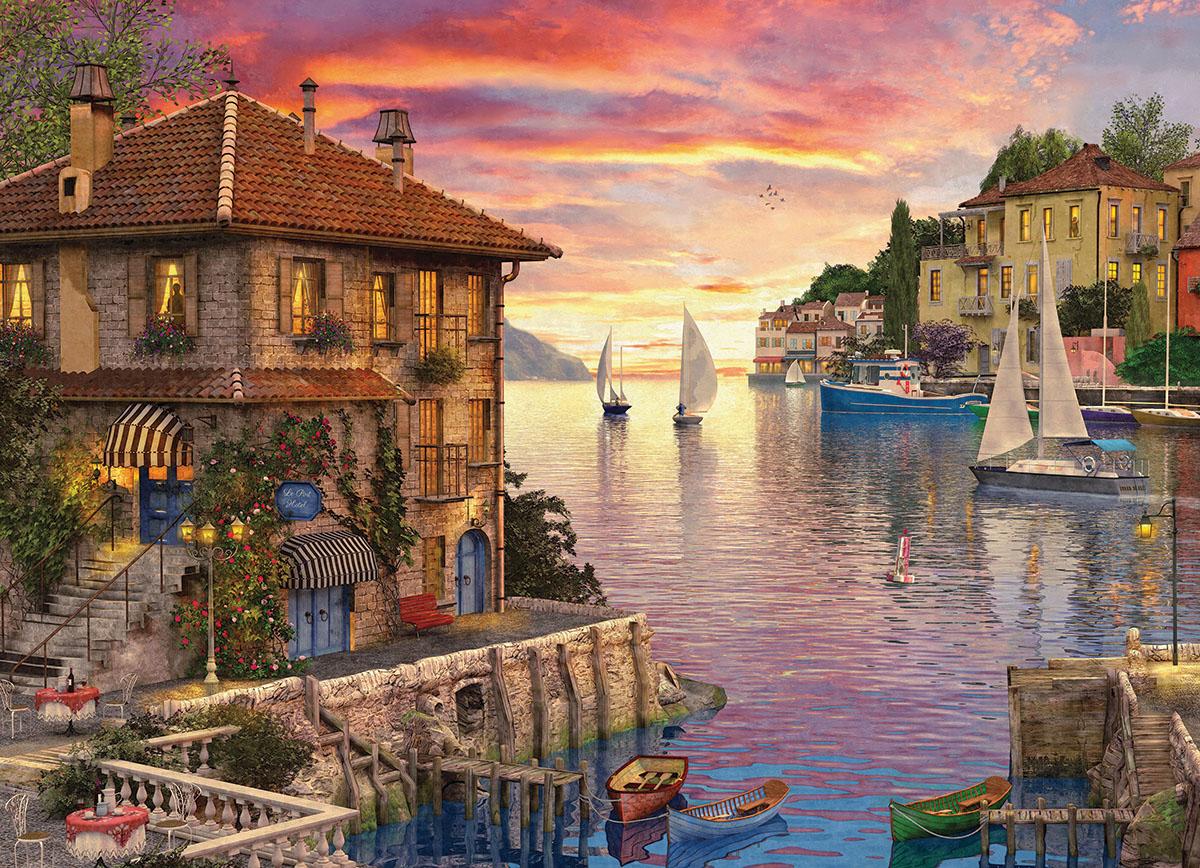 Mediterranean Harbor Jigsaw Puzzle