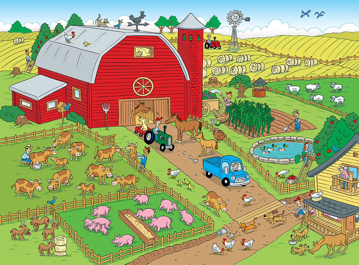 Things To Spot On A Farm 100 Pieces Masterpieces