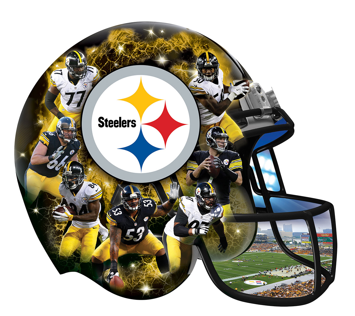 Pittsburgh Steelers Shaped Puzzle