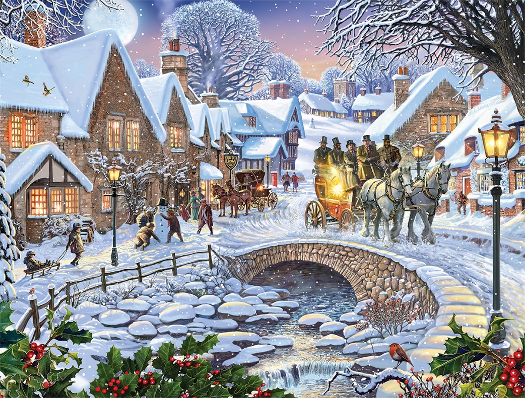 Winter Village Jigsaw Puzzle