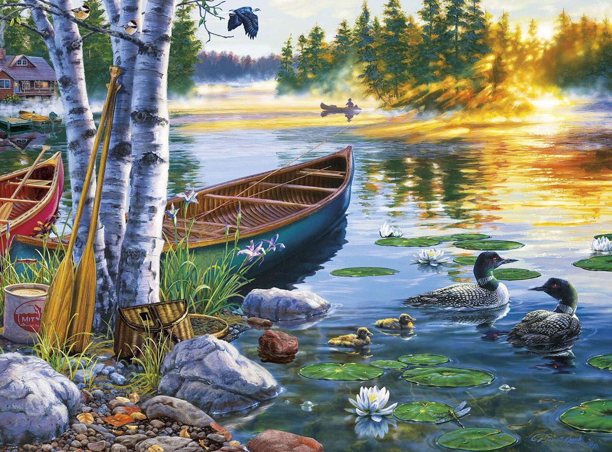 Lakeside Morning Jigsaw Puzzle