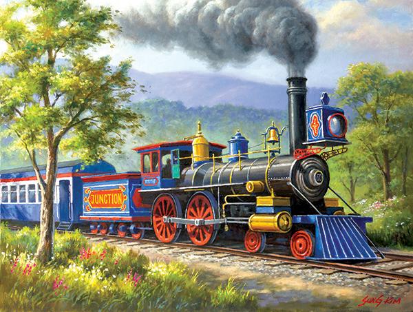 The Junction Express. 300 Pieces. SunsOut   Puzzle Warehouse