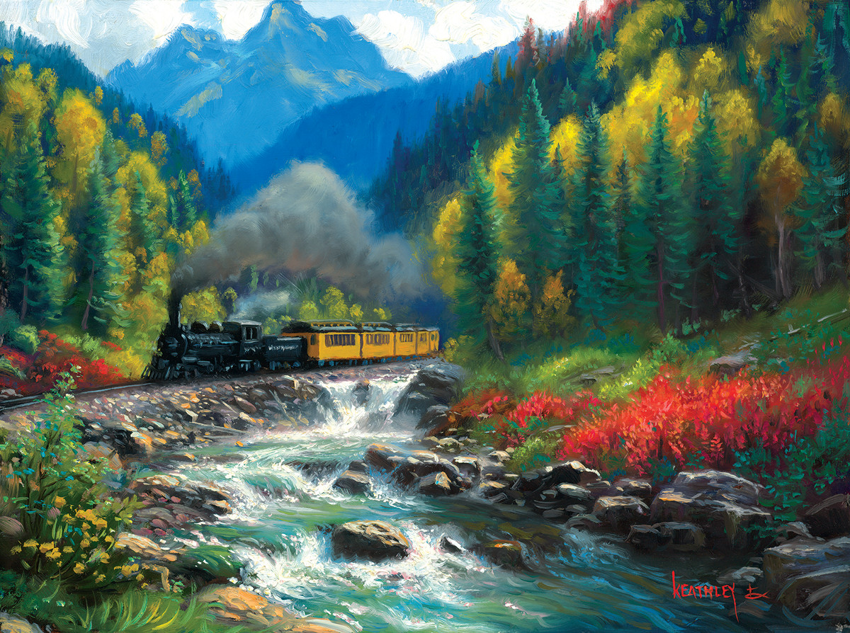Thomas Kinkade Fall Desktop Wallpaper Durango Silverton Jigsaw Puzzle Puzzlewarehouse Com