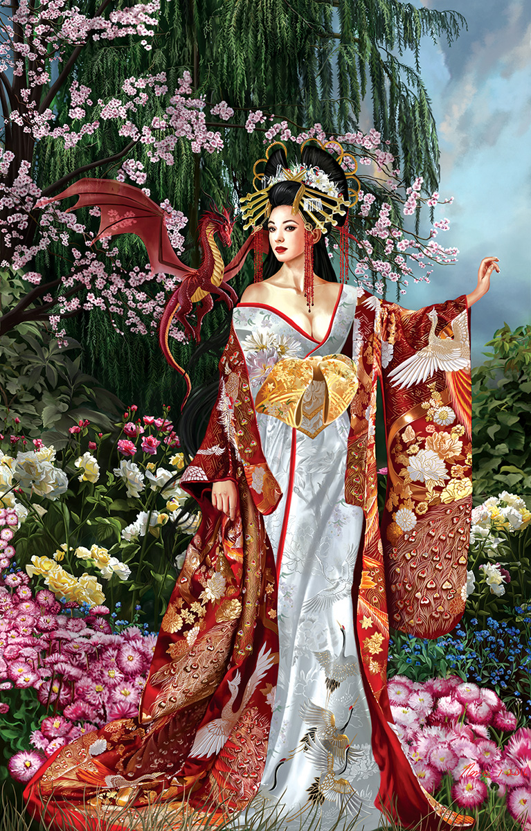 Girl Wallpaper Face Tattoo Queen Of Silk Jigsaw Puzzle Puzzlewarehouse Com