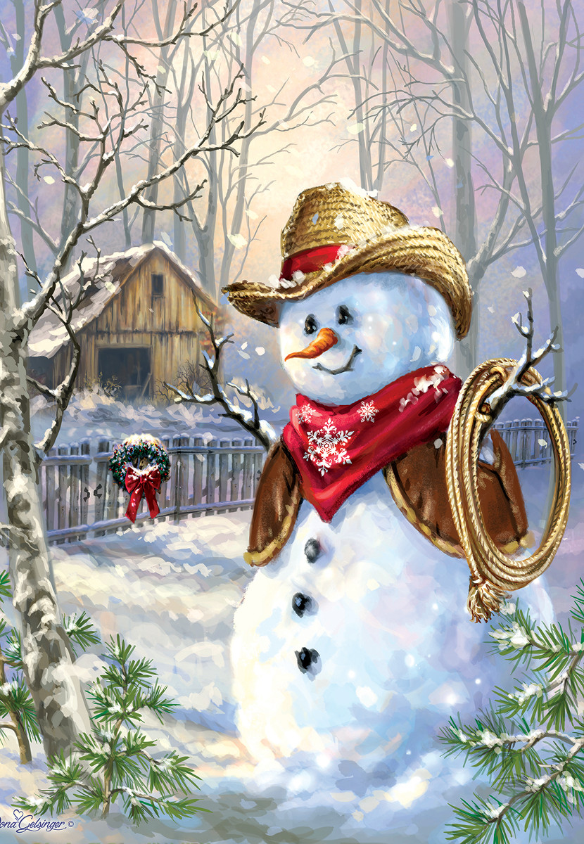 Cowboy in the snow Jigsaw Puzzle  PuzzleWarehousecom