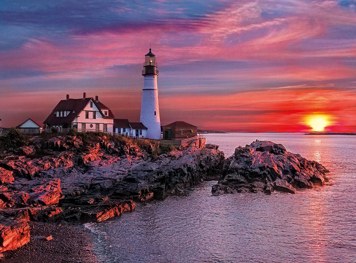 Fall In Maine Wallpaper Portland Light Head Lighthouse Jigsaw Puzzle