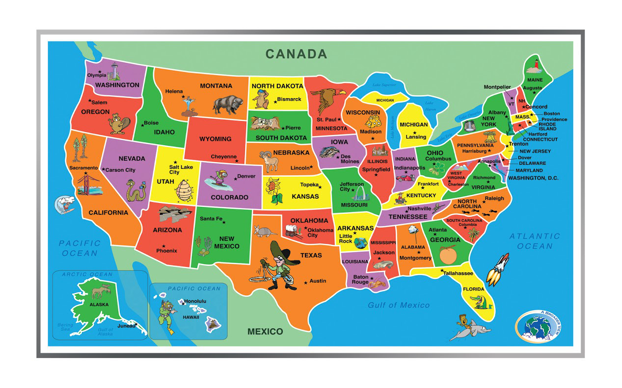 Kids Puzzle Of The Usa 55 Pieces A Broader View
