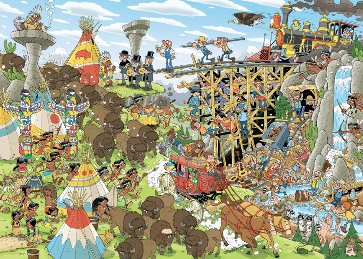 The Wild West Pieces Of History Jigsaw Puzzle