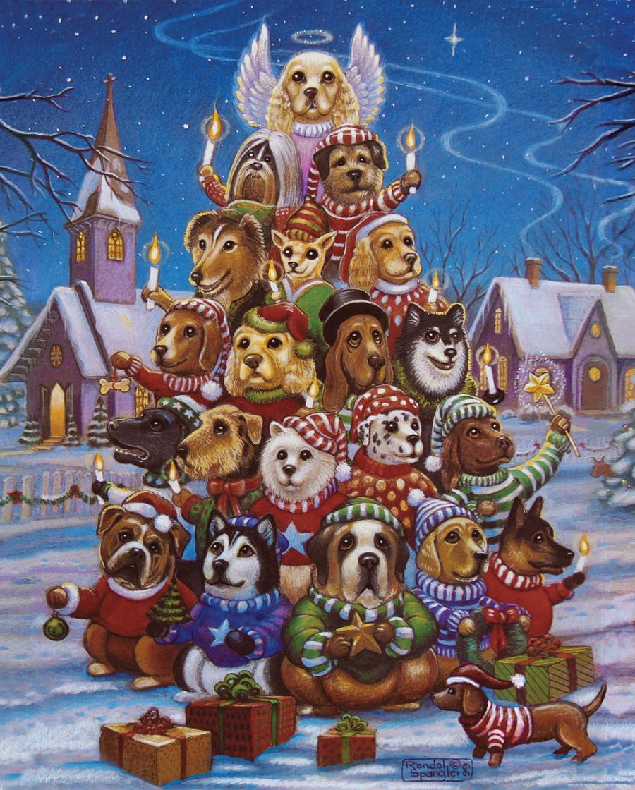 Canine Christmas Tree Jigsaw Puzzle
