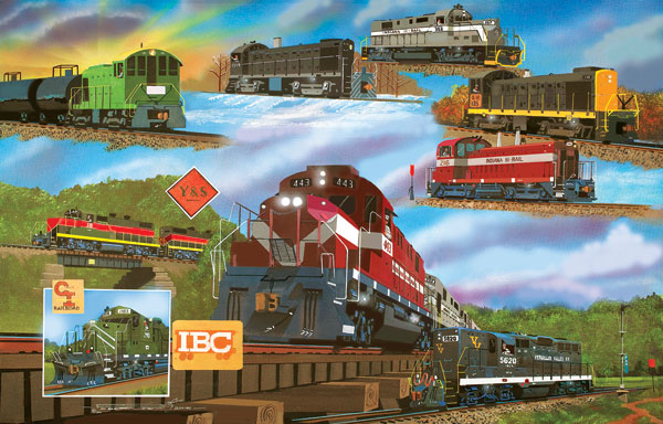 For the Love of Trains. 1000 Pieces. SunsOut   Puzzle Warehouse