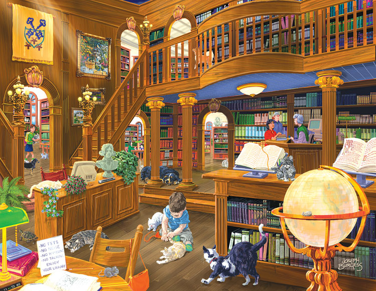 The Library Jigsaw Puzzle  PuzzleWarehousecom