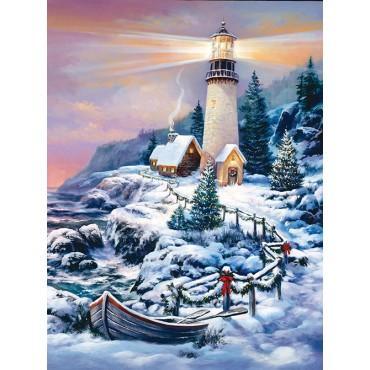 Christmas Lighthouse Jigsaw Puzzle