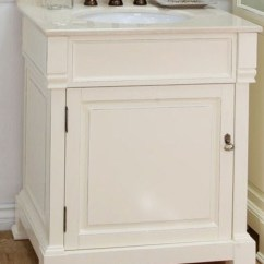 Instock Kitchen Cabinets Containers Set 30 Inch Single Sink Bathroom Vanity In Cream White ...