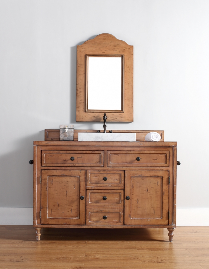 48 Inch Single Sink Bathroom Vanity in Driftwood Patina
