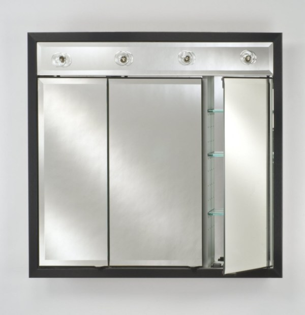 Signature Collection Custom Framed Triple Door Medicine Cabinet With Contemporary Integral