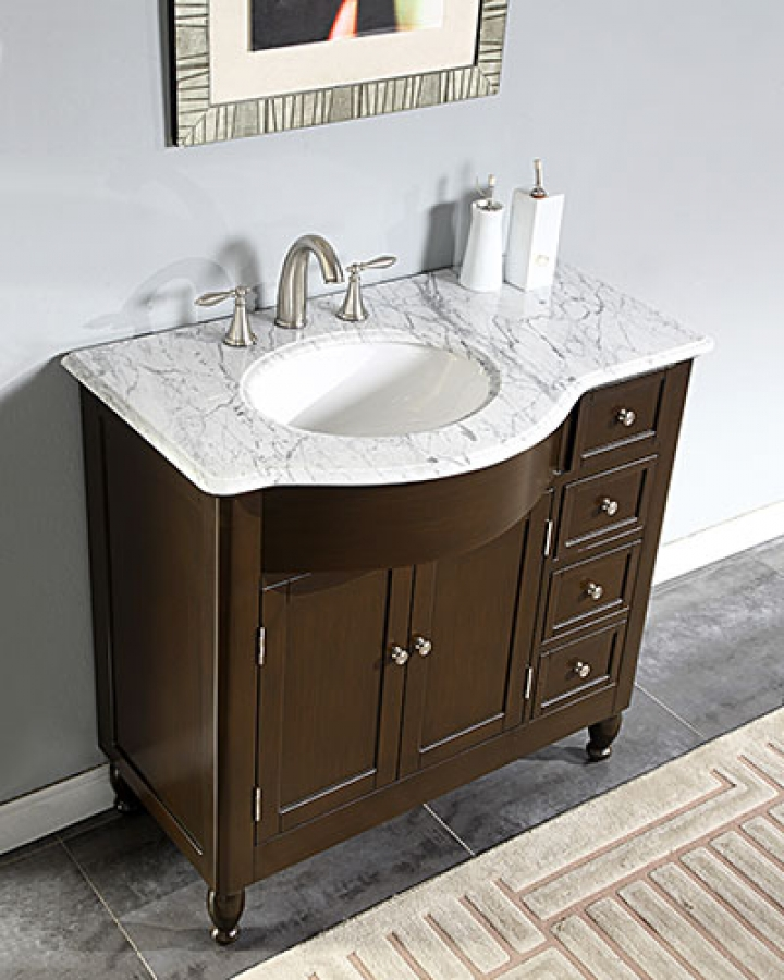 https www uniquevanities com 38 inch modern single bathroom vanity with white marble top uvsr0902wm38 htm