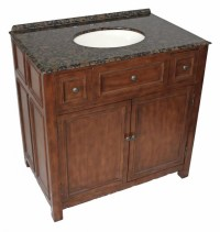 36 Inch Single Sink Bathroom Vanity in Walnut UVCDWFB394536