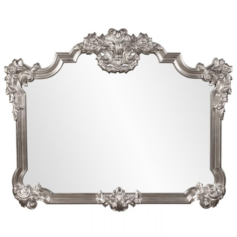 Brighton Bright Silver Leaf Ornate Buffet Mirror UVHE56095