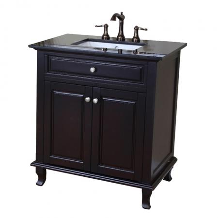 32 Inch Single Sink Bath Vanity in Mahogany UVBH60321532DMBG32
